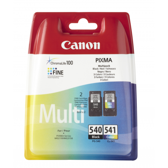 Canon PG-540/CL-541 Multi pack Original Schwarz, Cyan, Magenta, Gelb 2 Stück(e)
