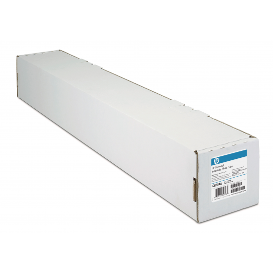 HP Universal Instant-dry Gloss Photo Paper 190 gsm-610 mm x 30.5 m (24 in x 100 ft) Fotopapier Braun, Weiß