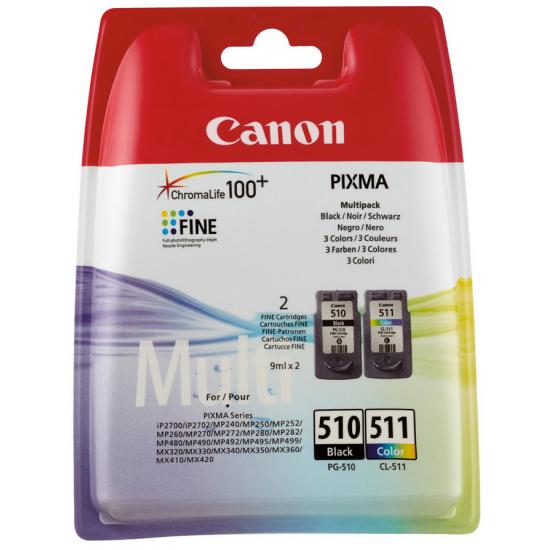 Canon PG-510/CL-511 Multi Pack Original Schwarz, Cyan, Magenta, Gelb 2 Stück(e)