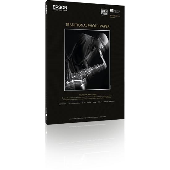 Epson Traditional Photo Paper, DIN A3+, 330 g/m², 25 Blatt