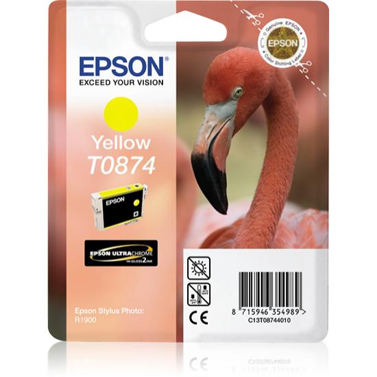 Epson Flamingo Singlepack Yellow T0874 Ultra Gloss High-Gloss 2