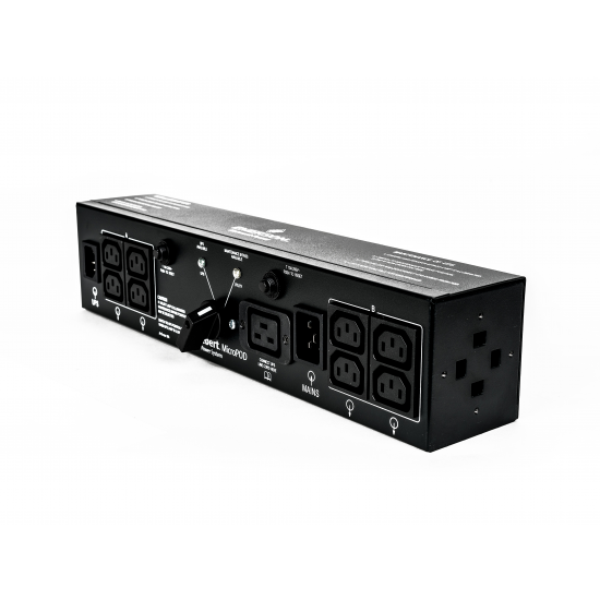 Vertiv 2U MicroPod External maintenance Bypass Stromverteilereinheit (PDU) Schwarz 19 AC-Ausgänge