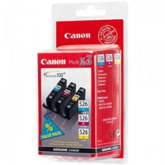 Canon CLI-526 C/M/Y Original Cyan, Magenta, Gelb 3 Stück(e)