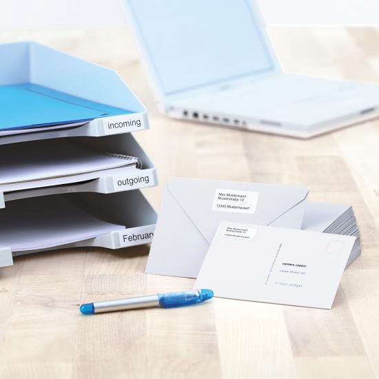 HERMA Etiketten Premium A4 25.4x10 mm weiß Papier matt 4725 St.