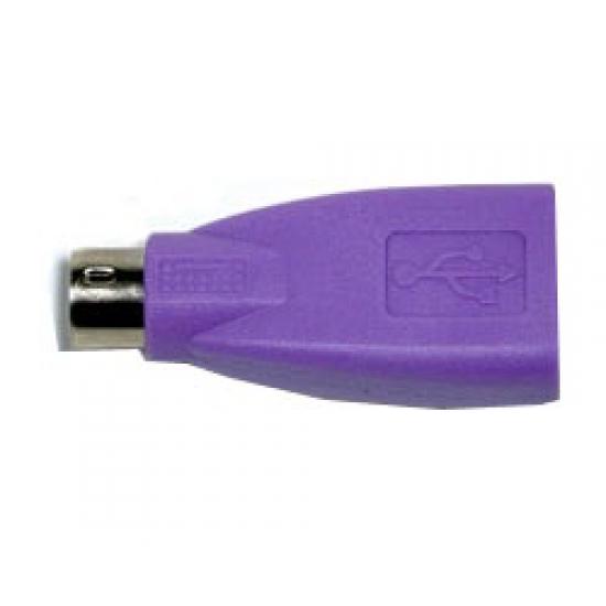 CHERRY 6171784 Kabelschnittstellen-/Gender-Adapter PS/2 USB A Violett