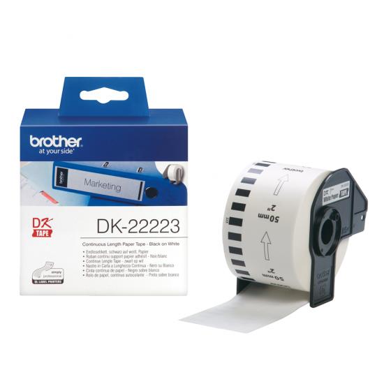 Brother DK-22223 Druckeretikett Weiß