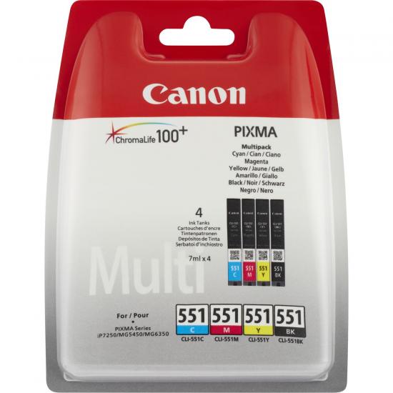 Canon CLI-551 C/M/Y/BK w/o sec Original Schwarz, Cyan, Magenta, Gelb 4 Stück(e)