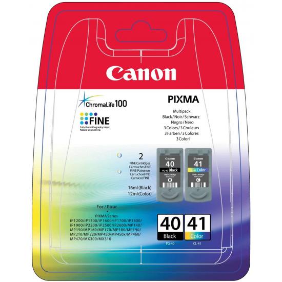 Canon PG-40/CL-41 Original Schwarz, Cyan, Magenta, Gelb 2 Stück(e)