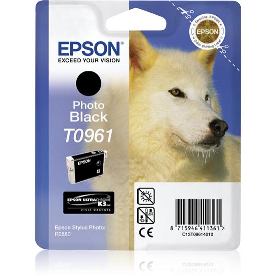 Epson Husky Singlepack Photo Black T0961
