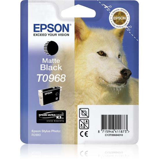 Epson Husky Singlepack Matte Black T0968