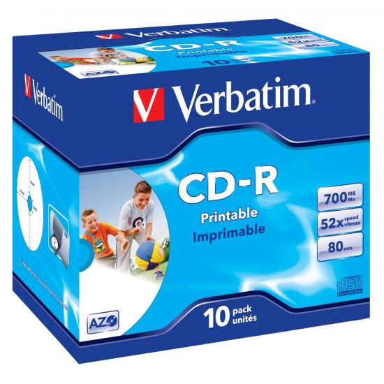 Verbatim CD-R AZO Wide Inkjet Printable 700 MB 10 Stück(e)
