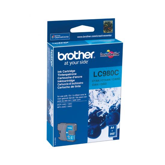 Brother LC-980C Druckerpatrone Original Cyan 1 Stück(e)