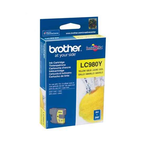 Brother LC-980Y Druckerpatrone 1 Stück(e) Original Gelb