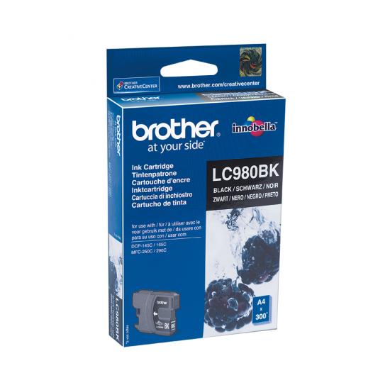 Brother LC-980BK Druckerpatrone 1 Stück(e) Original Schwarz