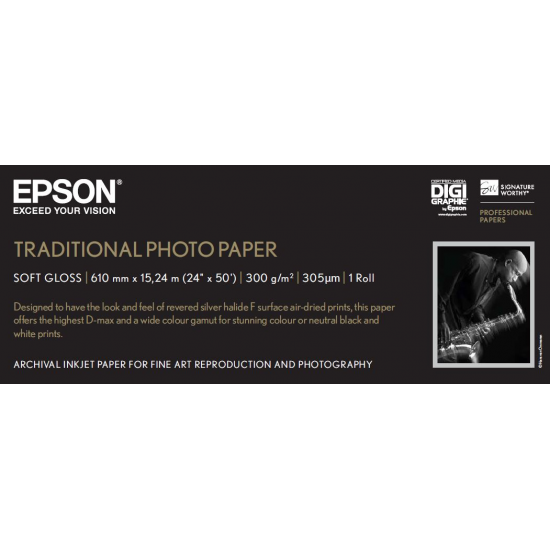 Epson Traditional Photo Paper, 24 Zoll x 15 m