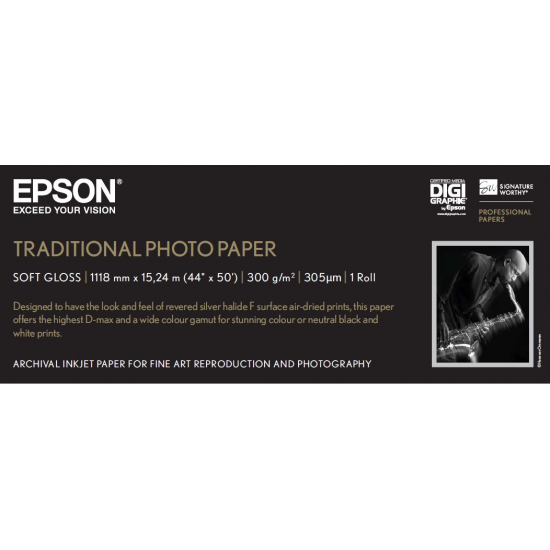 Epson Traditional Photo Paper, 44 Zoll x 15 m