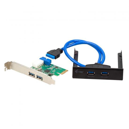 i-tec USB 3.0 Frontpanel Adapter Set PCI-E Karte USB 3.0