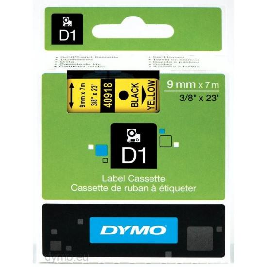 DYMO D1 - Standardetiketten - Schwarz auf Gelb - 9mm x 7m