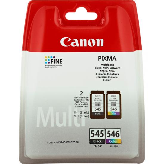 Canon PG-545/CL-546 Multipack Original Schwarz, Cyan, Magenta, Gelb 2 Stück(e)
