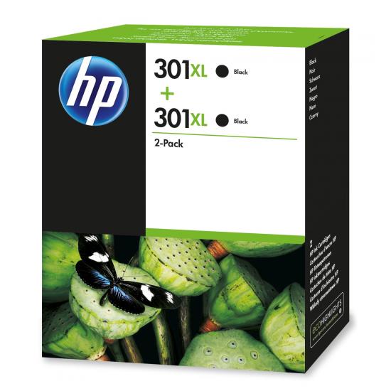 HP 301XL Original Schwarz 2 Stück(e)