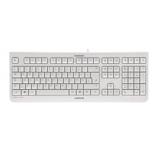 CHERRY KC 1000 Tastatur USB QWERTZ Deutsch Grau