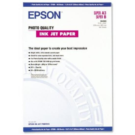 Epson Photo Quality Ink Jet Paper, DIN A3+, 102 g/m², 100 Blatt
