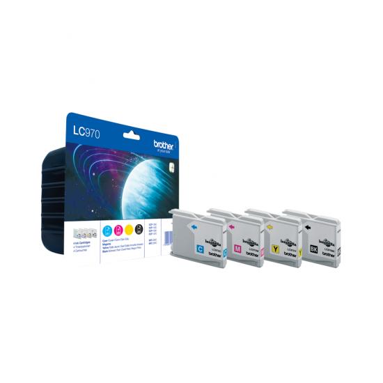 Brother LC-970 Value Pack Druckerpatrone Original Schwarz, Cyan, Magenta, Gelb