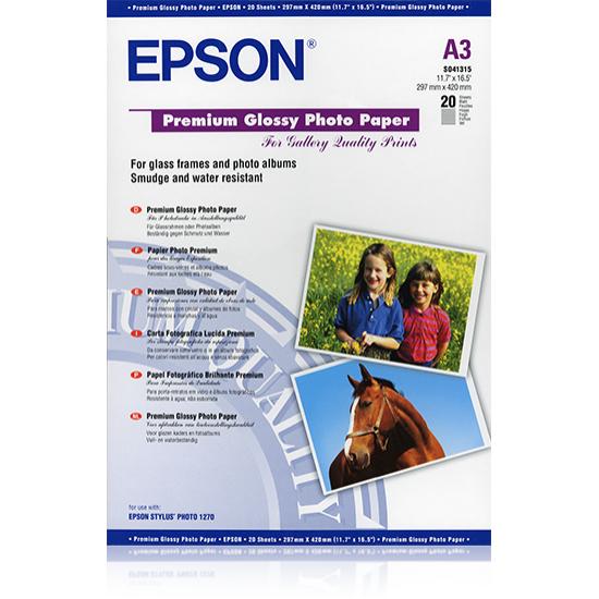 Epson Premium Glossy Photo Paper, DIN A3, 255 g/m², 20 Blatt
