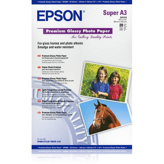 Epson Premium Glossy Photo Paper, DIN A3+, 250 g/m², 20 Blatt