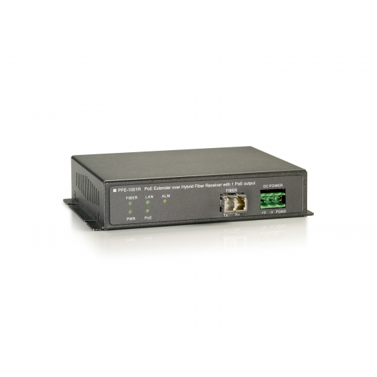 LevelOne PoE Extender, Receiver, Over Hybrid Fiber, 1 PoE-Ausgängen