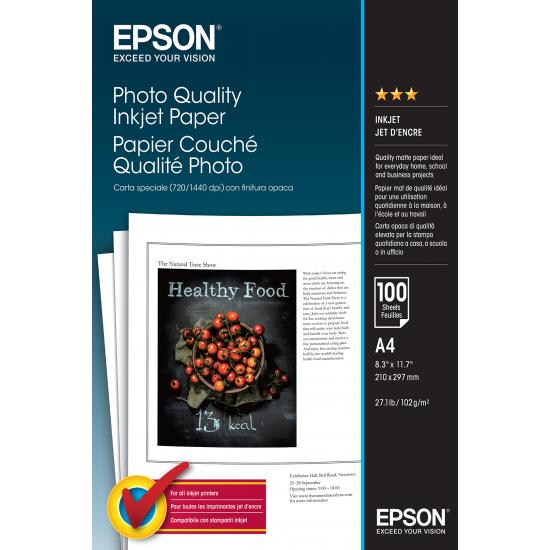 Epson Photo Quality Inkjet Paper - A4 - 100 Blätter