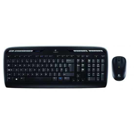 Logitech MK330 Tastatur RF Wireless Russisch Schwarz
