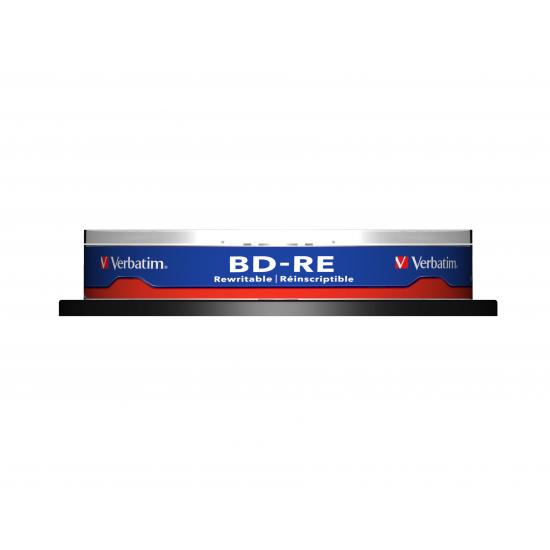 Verbatim BD-RE SL 25GB 2x 10 Pack Spindle 10 Stück(e)