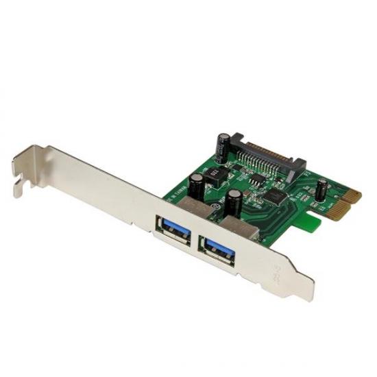 StarTech.com 2 Port PCI Express SuperSpeed USB 3.0 Schnittstellenkarte mit UASP - SATA Strom