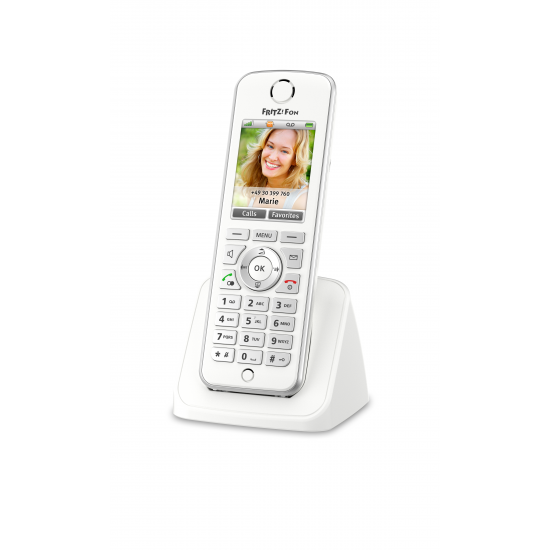 AVM FRITZ!Fon C4 International DECT-Telefon Weiß Anrufer-Identifikation