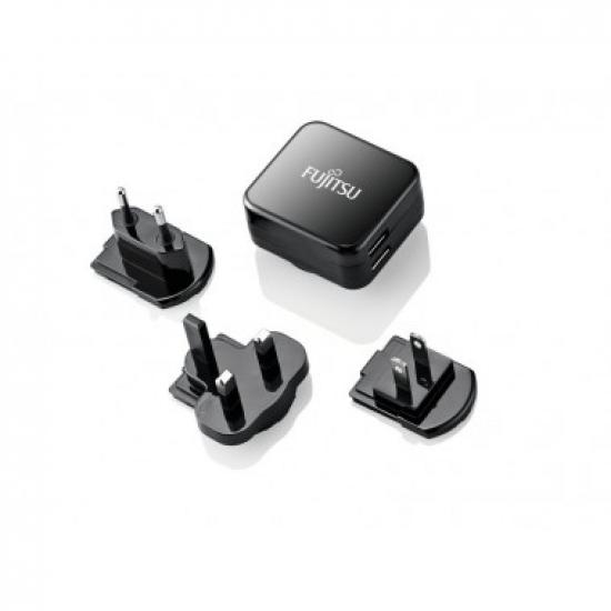 Fujitsu Dual USB Quick Charge Indoor Schwarz