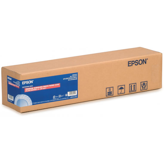 Epson Premium Semigloss Photo Paper Roll, 24 Zoll x 30,5 m, 250 g/m²