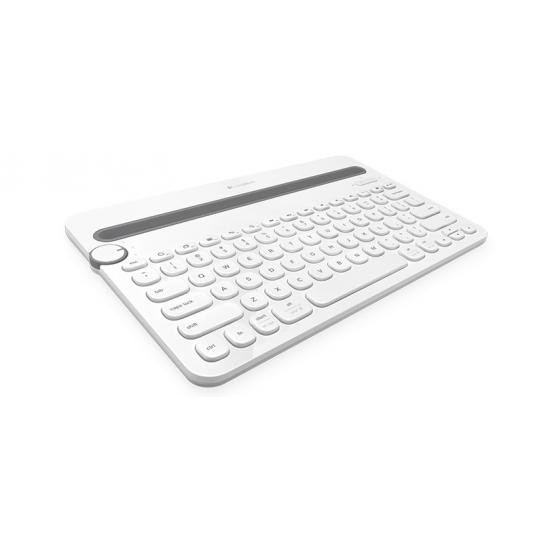 Logitech K480 Tastatur Bluetooth QWERTZ Deutsch Weiß