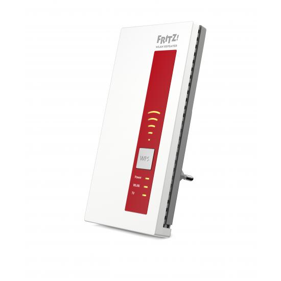 AVM FRITZ!WLAN Repeater DVB-C, DE Rot, Weiß