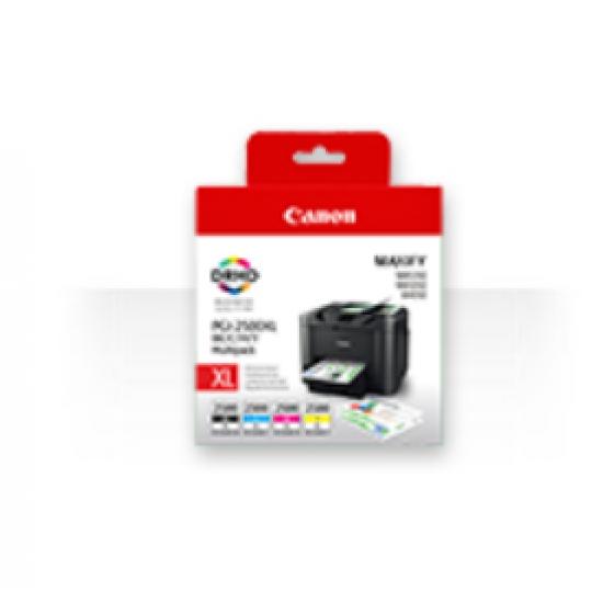 Canon PGI-2500XL C/M/Y/BK Original Schwarz, Cyan, Magenta, Gelb