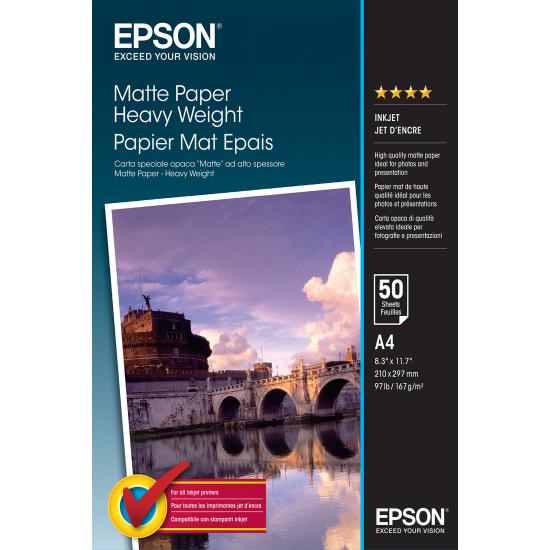 Epson Matte Paper Heavy Weight - A4 - 50 Blätter