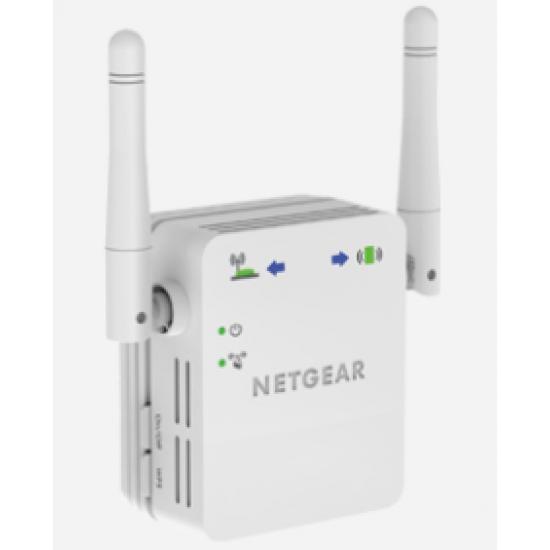 Netgear N300 WiFi Range Extender Netzwerksender & -empfänger Weiß 10, 100, 300 Mbit/s