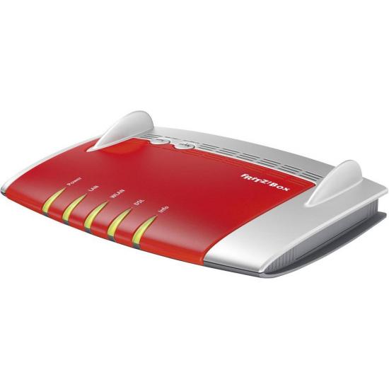AVM FRITZ!Box 3490 International WLAN-Router Dual-Band (2,4 GHz/5 GHz) Gigabit Ethernet Rot, Silber