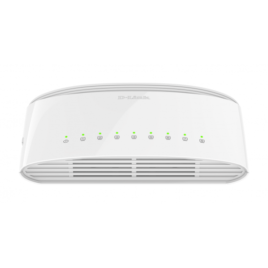 D-Link DGS-1008D/E Netzwerk-Switch Unmanaged Gigabit Ethernet (10/100/1000) Weiß