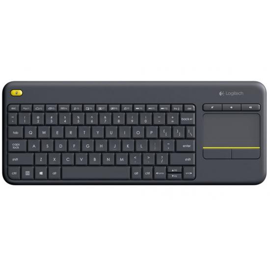 Logitech K400 Plus Tastatur RF Wireless QWERTZ Deutsch Schwarz