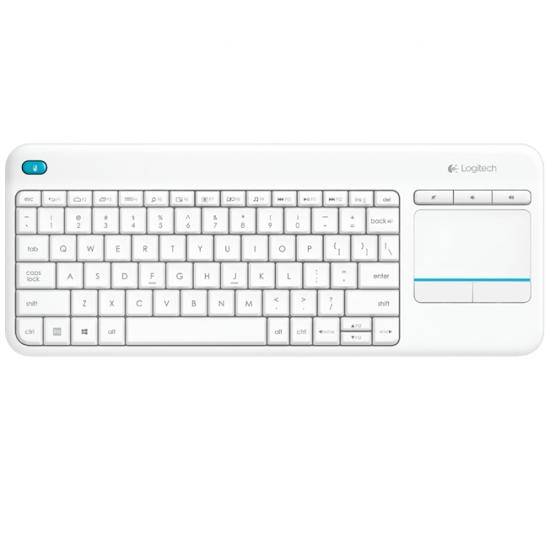 Logitech K400 Plus Tastatur RF Wireless QWERTZ Deutsch Weiß