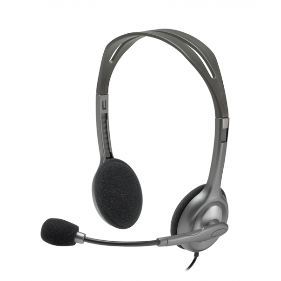 Logitech H111 Kopfhörer Kopfband Grau