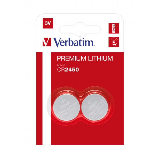 Verbatim Lithium-Knopfzellen CR2450