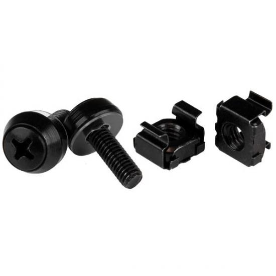 StarTech.com M5 x 12mm - Schrauben und Käfigmuttern - 50er Pack - Schwarz