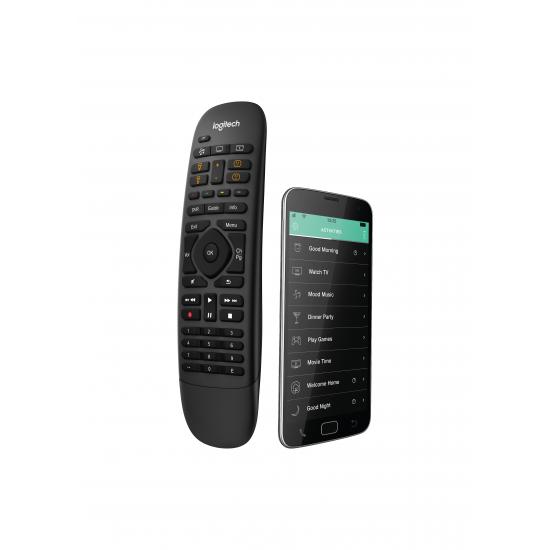 Logitech Harmony Companion Fernbedienung IR drahtlos/WLAN Audio, Kabel, DVR, Spielekonsole, Heimkinosystem, PC, Smartphone, TV, Tablet Drucktasten